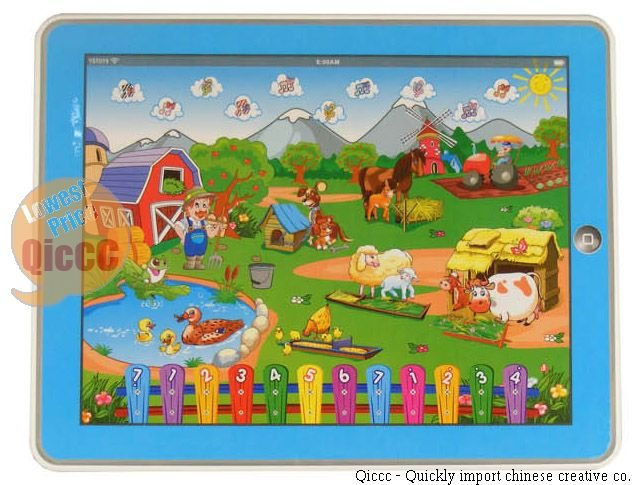 New arrival 10pcs/lot educational toys,Y-pad Table computer farm learing marchine kid toy(China (Mainland))