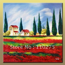 Free Postage! Pure Handmade Modern Oil Paintings, Scenery Painting, Landscape Painting With Frame! For Home Decor Or As Gift!(China (Mainland))