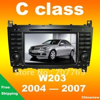 Car radio GPS  for Mercedes C-Class W203 year 2004-2007 with GPS navigation CAN-BUS USB SD bluetooth radio TV camera