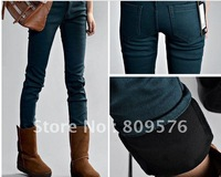 Women winter pants,plush inside jeans,pencil jeans,leg warmming.5 colors,5 sizes,free shipping cost.