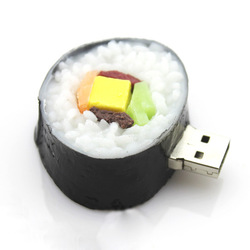 real 2GB/4GB/8GB/16GB/32GB USB Drive Pen Drive Memory Stick Cartoon Sushi Shape Drop shipping+Free Shipping(China (Mainland))