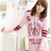 Free shipping!2012 Autumn womens hoodies fashion print letter Hooded sweatshirt 668011-cn