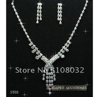MIN.ORDER $15,simple rhinestone bride necklace with letter X as drop,little tessels under it