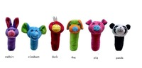 2012 Free Shipping Lovely Animal Rattle Baby Rattles Infant Musical Stuffed Toys Mini Promotional Gift
