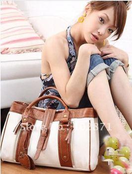 Korean Style Fashion Women's Hobo PU leather Handbag Shoulder white shopping bag free shipping
