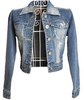 women&#39;s turn-down collar denim outerwear female spring and autumn plus size short jacket female denim top
