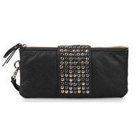 2012 Hot Sale  Fashion Casual  women handbag Shoulder Luxury Dinner  bagRivet  lady bag  wallet free shipping