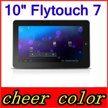 Free Shipping 10 inch FlyTouch 7 Allwinner A10 CPU Android 4.0 GPS antenna 1GB RAM 4GB/8GB/16GB HDD Tablet PC