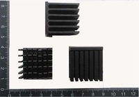 aluminum  black heatsink  28*28*15mm,3.95mm base, 1.76mm blade thickness