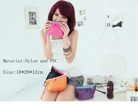 2012 Hot Sale  Fashion Casual  women Day Clutches bag ,Cute girl purse and phone bage PVC and Nylon material  free shipping