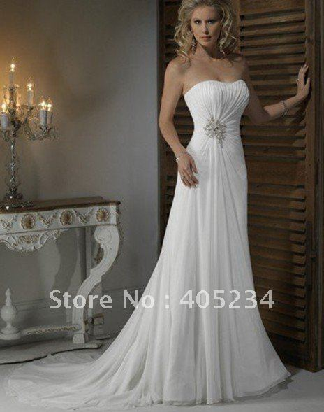 Low EMS Shipping Cost Wedding Dresses Wedding Gown Sleeveless Dress Back Trai