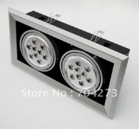 LED  Grille light 18W  LED ceiling lights opening 350*170mm Wholesale and Retail+free shipping