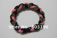 Free Shipping 50PCS/Lot Fashion Brand Tornado Titanium Bracelets Energy Bands with OPP Bags Mix Colors Custom Size