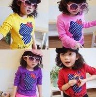 Hello Kitty pattern long sleeves t shirt, children clothing 1#aaa3128