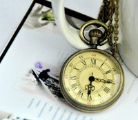 Minimum order 30$ : Roman pocket watch / jewelry / necklace / gift / accessories H7-3