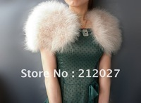 Wholesale New styleTurkey Feather Wraps/Vest/Shot Shawl  women warm in winter fur coat  Free Shipping YY-BX080