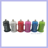 Micro Auto USB 5V/1A car Charger for iPhone 5 4 4S iPod colorful mini usb car charger