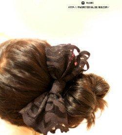 2012The new hairpin Korean hair accessories wholesale black retro bow side folder