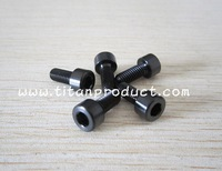 Gr.5 Titanium Bottle Cage Bolt M5x12mm Anodized Black Socket Head