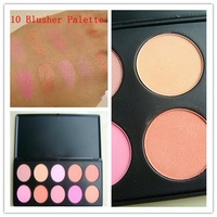 10 Color Makeup Cosmetic Blush Blusher Powder Palette Free Shipping #BP01