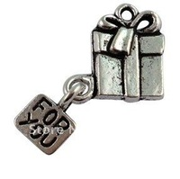 120Pcs Tibetan Silver Gift Bag FOR YOU Charms A16033