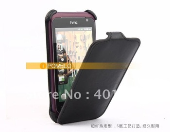 For HTC G20 rhyme XE S510B  Leather Cover Case free shipping by air mail ED586