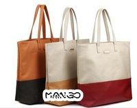 HB805   Bicolor pu tote bag shoulder bag Drop shipping /Wholesale Free Shipping