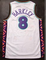 Free Shipping! #8 Charles Barkley all star white jersey