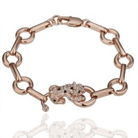 GPB016 18KRGP Crystal Bracelet Fashion Jewelry Hot Sale Free Shipping 18KGP Wholesale 18K Gold Bracelet PQ