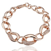 GPB023 18KRGP Crystal Bracelet Fashion Jewelry Hot Sale Free Shipping 18KGP Wholesale 18K Gold Bracelet WX
