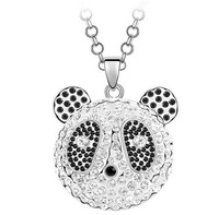Fashion crystal pendant necklaceset crystal/ mix batch/ panda crystal necklace