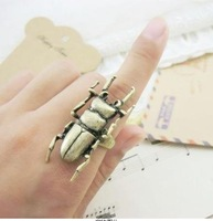 Fashion Ring on Promotion!Min Order$10 (Mix order)New arrival FASHION ring Punk jewelry cute beetle ring adjustable size SGR161