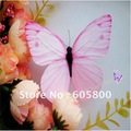 10pcs  Wing Artificial Butterfly for  Wedding Decorations Wedding  Favor Home Decoration 8.5cm wholesale (FREE SHIPPING)