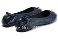 Famous brand TO woman dancing shoes Genuine sheepskin Ladies Ballet Flat Shoes free shipping