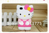 Hot selling 3D detachable plastic Hello Kitty Case Cover For iPhone 4 G 4S wholesale free DHL shipping