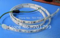 5m led digital strip,DC5V input,TSL3001 IC(4096 scale);32pcs IC and 32pcs 5050 SMD RGB each meter;waterproofy in tube
