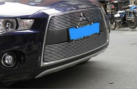 2010-2012 Mitsubishi Outlander High quality stainless steel Front Grille Around Trim Racing Grills Trim