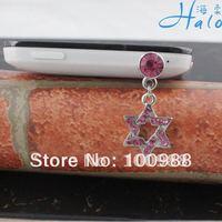 IP046 10pcs/Lot free shipping shiny star phone jewelry earphone jack plug