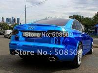 PVC 1.52*30m Normal Air free blue chrome vinyl wrap film car wrapping free shipping blcv30m