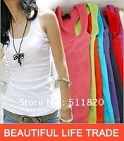 Free Shipping Outlet Stores 32Colors Cotton Women's Tank Tops/Free Size ''I'' Shape Women's Sportswear/Camisole