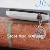 IP057! 10pcs/Lot free shipping crystal rhinestone phone plug wholesale
