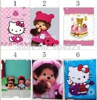 20% off Fashion Hello kitty plastic hard case for IPAD 2 ,3,New ipad,cartoon skin Cover, back protect housing, FREE SHIPPING