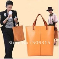 NEWEST Fashionable girls or ladies' PU Leather Shoulder Tote bag Handbag freeshipping