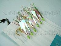 EMS/DHL/FEDEX! 100Set Lot 600Pcs (1Set=6Pcs) Big Fish Skin Sparkling Shin Shining Fishing Lures Fishhook