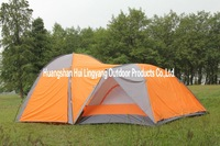many person,double layer,one-bedroom camping Tent,Free shipping