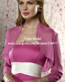 FJ11 Custom Elegant Chiffon Long Sleeve Bridal Bolero Jacket
