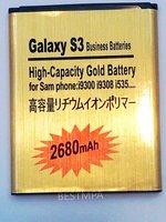 GALAXY S3  i9308 i9300 EB-L1G6LLU GOLD BATTERY   2680MAH