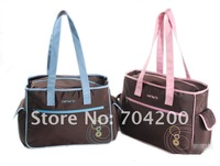 5 sets/lot-2 colors heart love blue and pink mama Diaper bag/Nappy bag/diaper bag for mother
