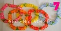 hawaii flower leis/hawaiian wreath/7 color avaiable/Welcome etiquette hawaiian garland/luau flowers/hawaii beach skirt