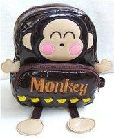 Hot sale super cute baby school bag cartoon monkey backpack